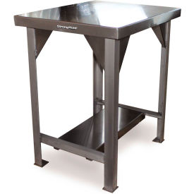 Strong Hold 30 X 24 Stainless Steel Top Fixed Leg Work Table