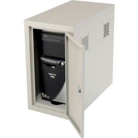 Security Computer CPU Enclosed Cabinet Side Car - Gray