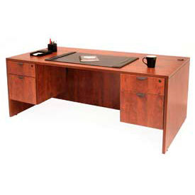 Regency 71Inch Desk with Hanging Peds in Cherry - Manager Series