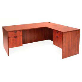 Regency 71Inch L Desk with 47 Inch Right Return in Cherry - Manager Series