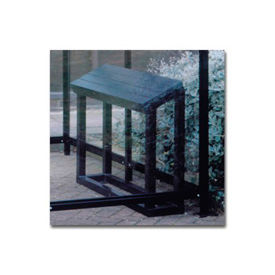 "Perch Seat BH01 for No Butts Smoking Shelters 32""L x 40""W x 12""H - Black"