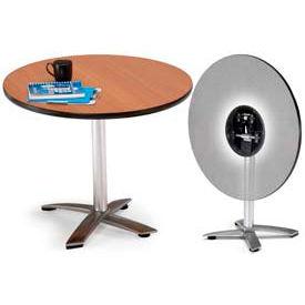 "OFM 36"" Round Flip-Top Multi-Purpose Table, Mahogany"