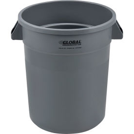 Global Industrial™ Plastic Trash Container, Garbage Can - 20 Gallon Gray