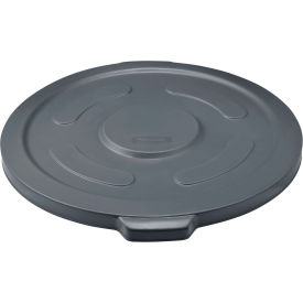 Global Industrial™ Plastic Trash Container Lid, Garbage Can Lid - 55 Gallon Gray