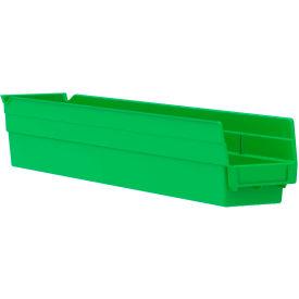 "Akro-Mils Plastic Shelf Bin Nestable 30124 - 4-1/8""D x 23-5/8""D x 4""H Green - Pkg Qty 12"