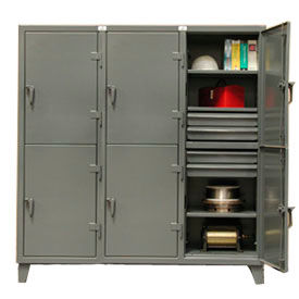 Strong Hold® Standard Locker 66-24-2TPL-12DB - Double Tier With12 Drawers