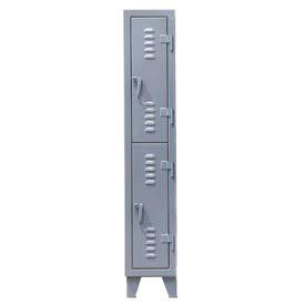 Strong Hold® Heavy Duty Slim-Line Locker 16-18-2TSLx - Double Tier 14x18x78 2 Door