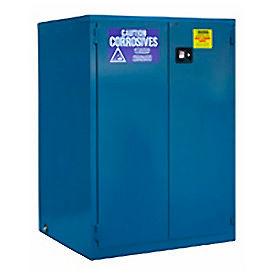 "Global™ Acid Corrosive Cabinet - Manual Close Double Door 60 Gallon - 34""W x 34""D x 65""H"