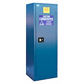 "Global&#8482 Acid Corrosive Cabinet - Self Close Single Door 18 Gallon - 23""W x 18""D x 44""H"