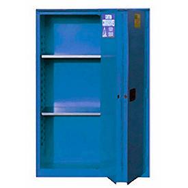 "Global&#8482 Acid Corrosive Cabinet - Manual Close Bi-Fold Single Door 60 Gallon - 34""W x 34""D x 65"""