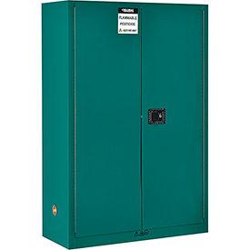 "Global&#8482 Pesticide Storage Cabinet - Manual Close Double Door 45 Gallon - 43""W x 18""D x 65""H"