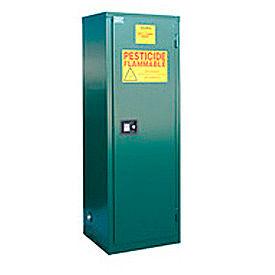 """Global&#8482 Pesticide Storage Cabinet - Self Close Single Door 24 Gallon - 23""""W x 18""""D x 65""""H"""