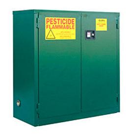 "Global&#8482 Pesticide Storage Cabinet - Self Close Double Door 30 Gallon - 43""W x 18""D x 44""H"