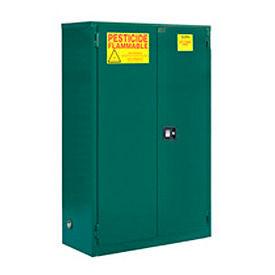 "Global&#8482 Pesticide Storage Cabinet - Self Close Double Door 45 Gallon - 43""W x 18""D x 44""H"