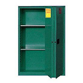 """Global&#8482 Pesticide Storage Cabinet - Manual Close Bi-Fold Single Door 45 Gallon - 43""""W x 18""""D x"""
