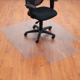 "Aleco® 46""W x 60""L Office Chair Mat w/ 25"" x 12"" Lip for Hard Floor"
