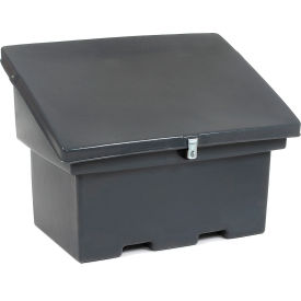 Storage Plastic Container With Slanted Lid 32x48x34 Gray