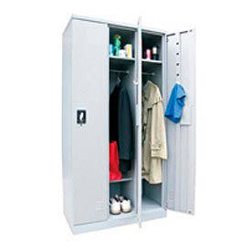 Boltless Steel Locker Single Tier 35-1/4 X 18 X 72 3 Door Unassembled Gray