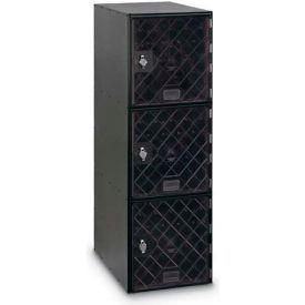 Modular Box Locker 11-1/2 X 18 X 38 Three Clear Door With Hasp Lock