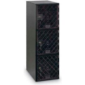 Modular Box Locker 11-1/2 X 18 X 38 Three Clear Door With Keyed Lock