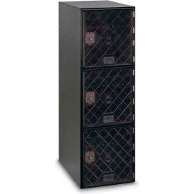 Modular Box Locker 11-1/2 X 18 X 38 Three Clear Door With Combination Lock