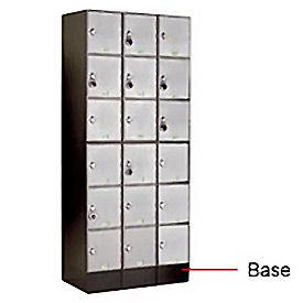 """6"""" Black Steel Base For Modular Locker"""