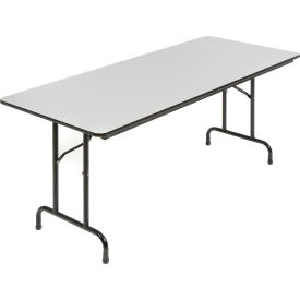 6' Folding Table - Laminate - Gray