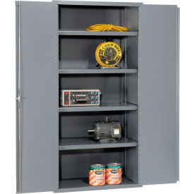 "Jamco Heavy Duty Storage Cabinet DL148GP - Welded 14 ga. 48""W x 18""D x 78""H, Gray"