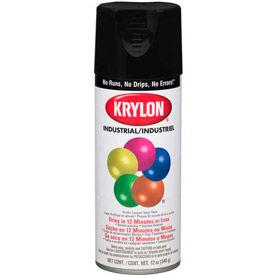 Krylon (5-Ball) Interior-Exterior Paint Semi-Flat Black - K01613 - Pkg Qty 6