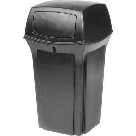 Rubbermaid Ranger® 35 Gallon 2 Door Outdoor Trash Can - Black 8430-88
