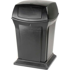 Rubbermaid Ranger® 45 Gallon 2 Door Outdoor Trash Can - Black 9171-88