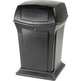 Rubbermaid Ranger® 45 Gallon 2 Door Outdoor Trash Can - Black 9171-88