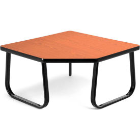 """OFM 30"""" Corner Table with Sled Base, Cherry"""