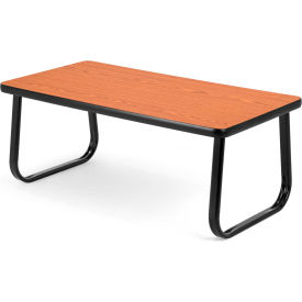 "OFM 40"" Magazine Table with Sled Base, Cherry"