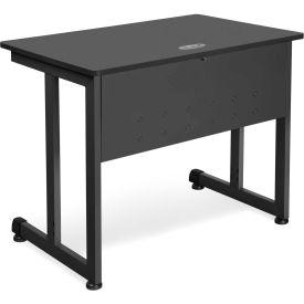 """OFM 24"""" x 36"""" Modular Computer and Training Table, Graphite with Black Frame"""