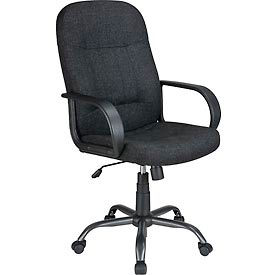 Executive Fabric Upholstered Chair - Black