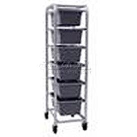 "All Welded Aluminum 6 Lug Cart, 26""L x 18-3/4""W x 71""H"