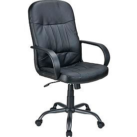 Executive Leather Upholstered Chair - Black