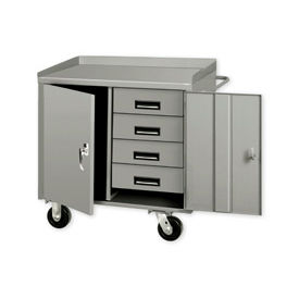 36 X 26 4 Drawer Mobile Cabinet Bench