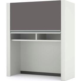 "Bestar® Hutch for Lateral File - 30""- Slate & Sandstone - Connexion Series"