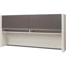 Bestar® Hutch for Credenza - Slate & Sandstone - Connexion Series