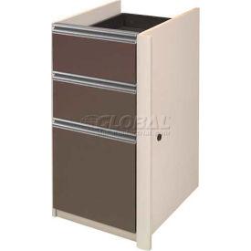 Bestar® Pedestal Without Top (Unassembled) - Slate & Sandstone - Connexion Series