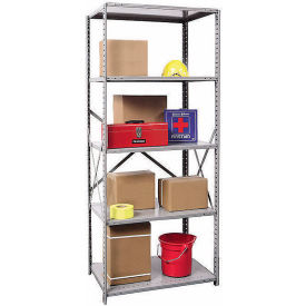 "Hallowell Steel Shelving 20 Ga 36""Wx24""Dx87""H Open Clip 5 Shelf Starter"