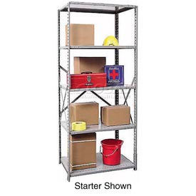 "Hallowell Steel Shelving 20 Ga 36""Wx12""Dx87""H Openclip 5 Shelf Add-On"