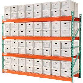 "Record Storage Rack Starter Letter Legal 120""W x 36""D x 96""H"