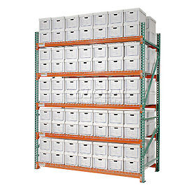 "Record Storage Rack Starter Polyethylene Box 120""W x 48""D x 96""H"