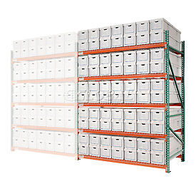 """Record Storage Rack Add-On Letter Legal 120""""W x 36""""D x 96""""H"""