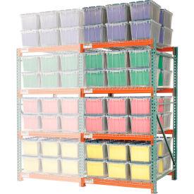 "Record Storage Rack Add-On Letter Polyethylene Box 48""W x 48""D x 96""H"