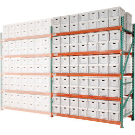 "Record Storage Rack Add-On Letter Polyethylene Box 96""W x 48""D x 96""H"