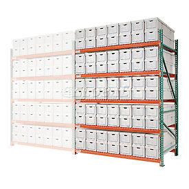 "Record Storage Rack Add-On Letter Polyethylene Box 120""W x 48""D x 96""H"